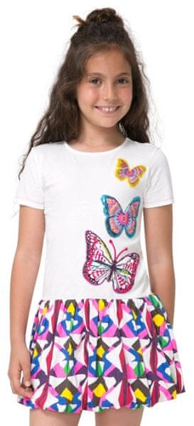 Desigual dívčí šaty Providence 116 vícebarevná