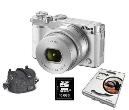 Nikon digitalni fotoaparat 1 J5 + 10-30MM (PDZ) + Fatbox + Filter, bel