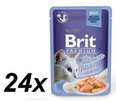 Brit Premium Cat Delicate Fillets Jelly Łosoś 24x85g