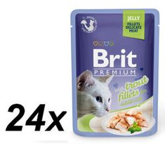 Brit Premium Cat Delicate Fillets Jelly Pstrąg 24x85g