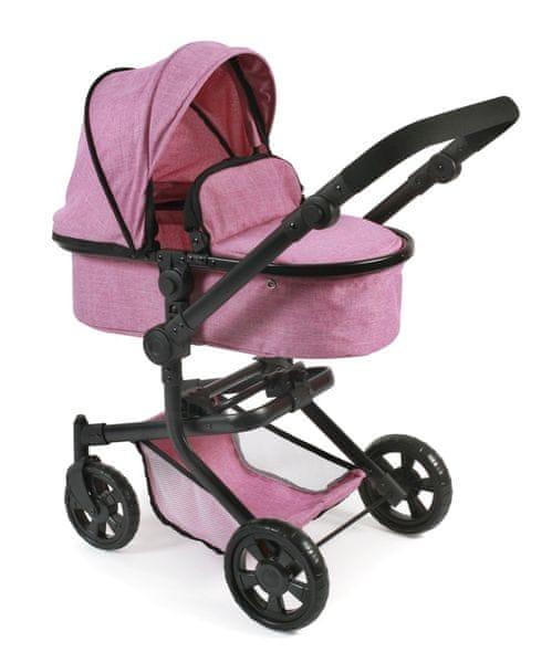 Bayer Chic Kombinovaný kočárek MIKA, světle růžová