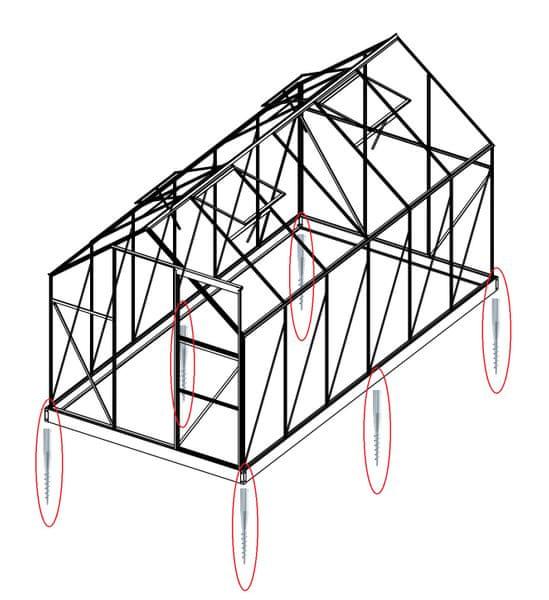 LanitPlast Sada 8 zemní vruty (modely 8x7, 8x10, 8x12, 6700 - 9900)