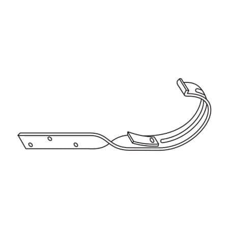 LanitPlast Kovový hák překroucený RG 100 půlkulatý antracitová barva