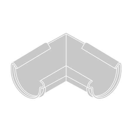 LanitPlast Roh vnitřní RG 125 půlkulatý stříbrná barva
