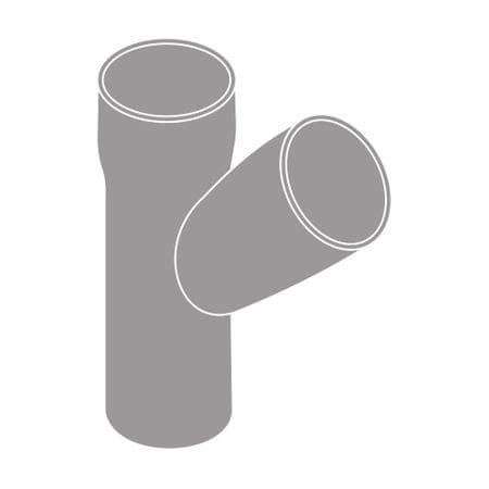 LanitPlast Odbočka svodu 45°DN 105/105 šedá barva