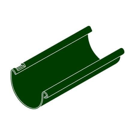 LanitPlast Okapový žlab RG 125 půlkulatý zelená barva 2 m
