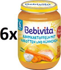 Bebivita Smetanové brambory s mrkví a kuřecím masem - 6x190g