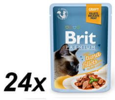 Brit Premium Cat Delicate Fillets in Gravy with Tuna 24 X 85 g