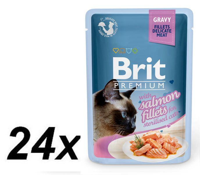Brit Premium Cat Delicate Fillets in Gravy with Salmon for Sterilised 24 X 85 g
