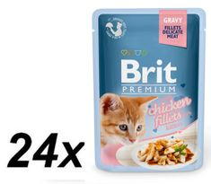 Brit Premium Cat Delicate Fillets in Gravy with Chicken for Kitten 24 X 85 g