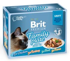 Brit Premium Cat Delicate Fillets in Gravy Family Plate 12 x 85g