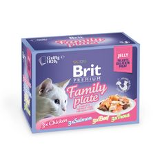 Brit Premium Cat Delicate Fillets in Jelly Dinner Plate 12x85g (4x85g)