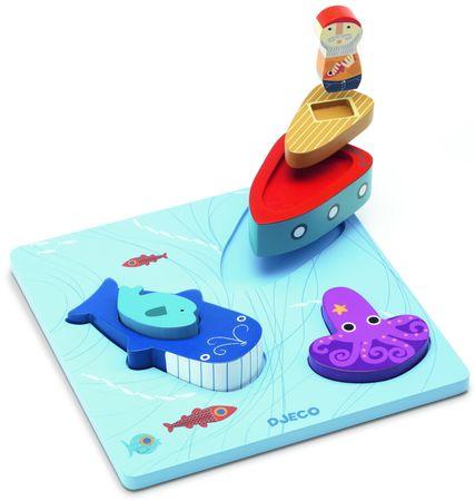 Djeco Mořský svět - vkládací puzzle