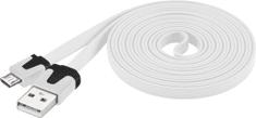 PremiumCord Micro-USB kábel (2.0; 2m), biela
