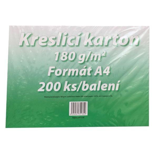 Karton kreslicí bílý A4 180 g / 200 l.