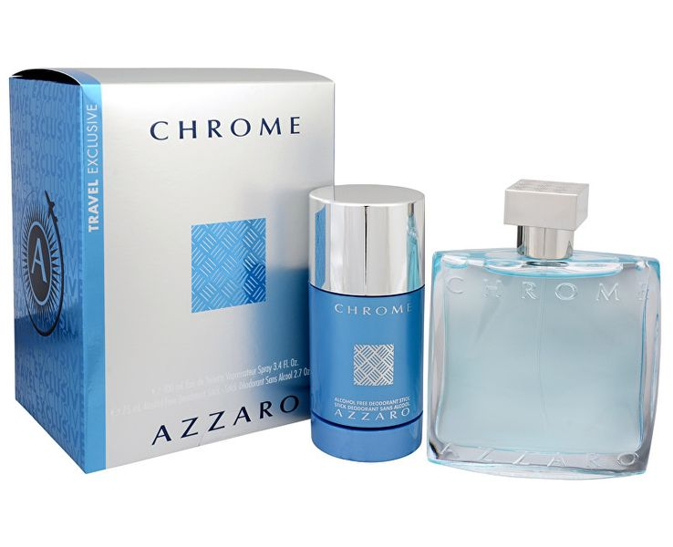 Azzaro Chrome - EDT 100 ml + tuhý deodorant 75 ml