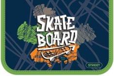 Street peresnica Skate board z eno zadrgo in enim preklopom, polna