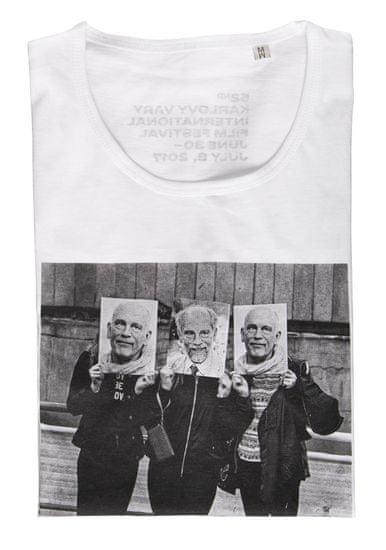MFF Karlovy Vary dámske biele tričko