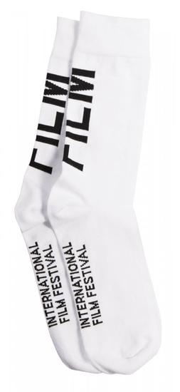 MFF Karlovy Vary unisex biele ponožky