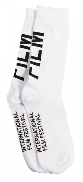 MFF Karlovy Vary unisex bílé ponožky 43-46