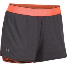 Under Armour HG Armour 2in1 Prnt Shrty Carbon Heather London Orange Metallic Silver