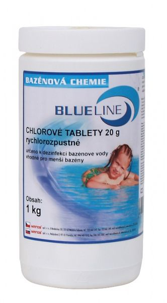 Blue Line Rychlorozpustné chlorové tablety - 504601