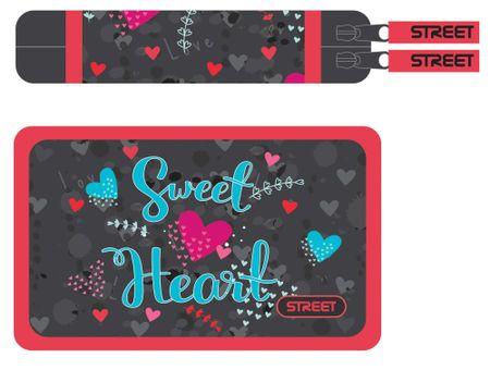 Street peresnica Sweet heart z dvema zadrgama, polna