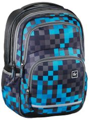 Hama Školní batoh All Out Blaby, Blue Pixel