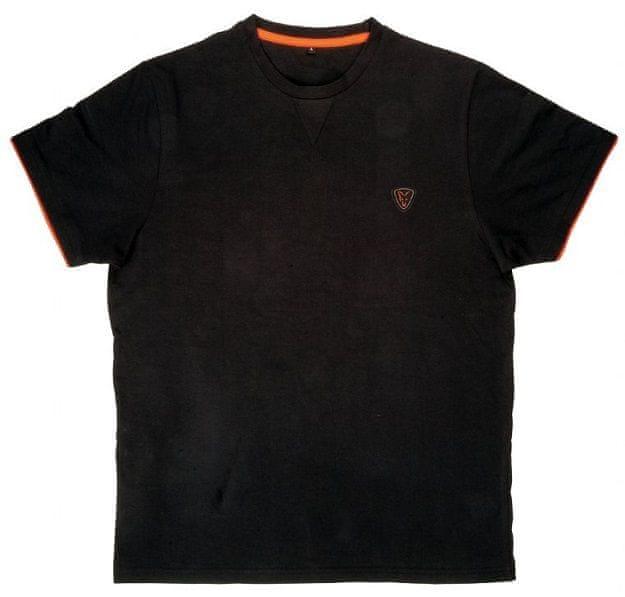 Fox Tričko Cotton T-Shirt Black Orange L