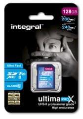 Integral spominska kartica 128GB UltimaPro X SDXC 280/240MB UHS-II