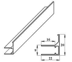 LanitPlast AL ukončovací / okrajový U/F-profil 6 mm 2.10 m