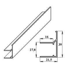 LanitPlast AL ukončovací / okrajový U/F-profil 25 mm 2.10 m