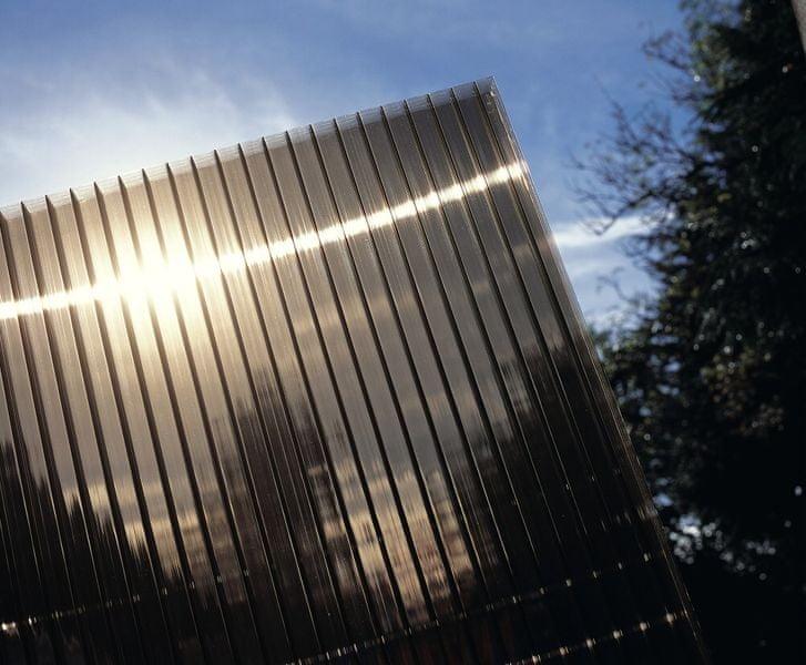 LanitPlast Polykarbonát komůrkový 10 mm bronz - 4 stěny - 1,7 kg/m2 1,05x7 m
