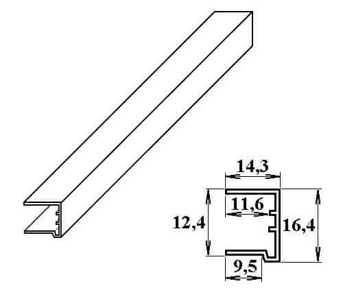 LanitPlast PVC ukončovací U-profil 10 mm bílý 2.10 m