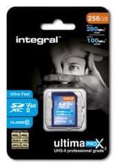 Integral spominska kartica 256GB UltimaPro X2 SDXC 280/100MB UHS-II