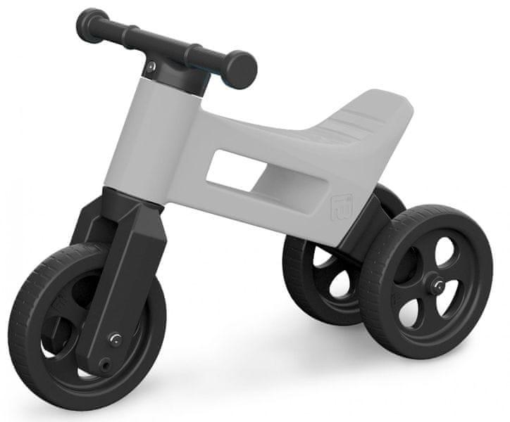 Teddies Odrážedlo Funny Wheels 2v1 šedá