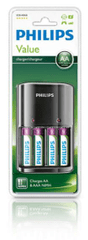 Philips punjač baterija MultiLife + 4xAA bat.