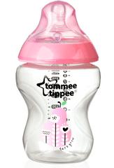 Tommee Tippee BPA-mentes cumisüveg, 260 ml, Rózsaszín