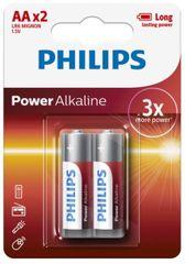 Philips baterije Power Alkaline Blister AA, 2 kosa (LR6)
