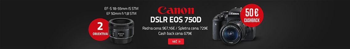 Canon DSLR fotoaparat EOS 750D