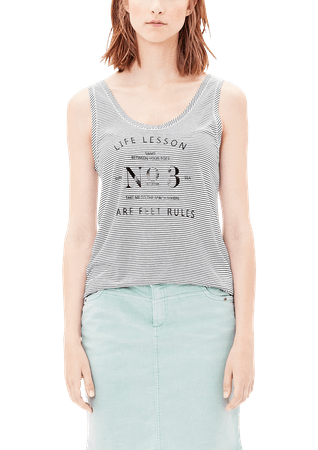 s.Oliver koszulka bez rękawów damska 36 kremowy