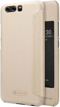 Nillkin Kryt Sparkle S-View (Huawei P10), zlatá