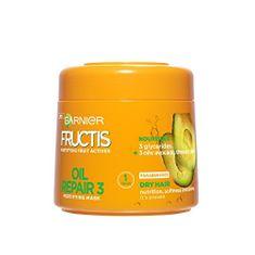 Garnier Posilňujúci maska pre suché a hrubé vlasy Fructis (Oil Repair 3 Mask) 300 ml
