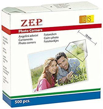 ZEP foto uglovi 15X15MM - 500 STICKERS CR500