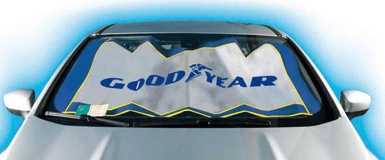 Goodyear aluminijast senčnik za avto 130 x 60 cm