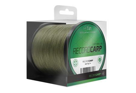 FIN Splietaná šnúra Record Carp 1000m zelená 0,26 mm, 26,4lb