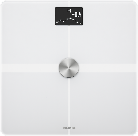 Nokia pametna tehtnica Body+ Full Body Composition WiFi Scale - White, bela