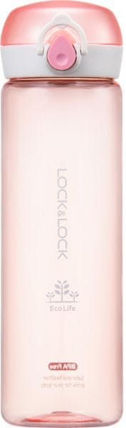 Lock&Lock Láhev Bisfree One Touch 550 ml, růžová