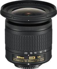 Nikon Nikkor AF-P 10-20 mm f/4,5-5,6 VR DX + Cashback 1300 Kč!