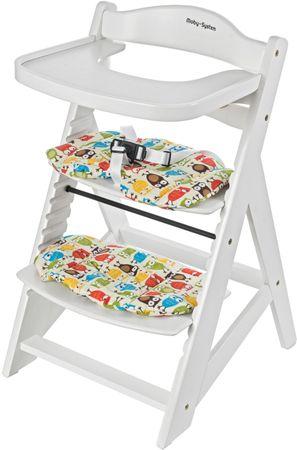 Sun Baby Dřevěná rostoucí židlička Woody, White